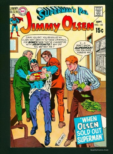 Superman's Pal, Jimmy Olsen #132 VF 8.0 White Pages