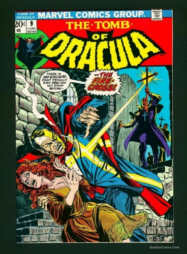 Tomb Of Dracula #9 NM 9.4 White Pages Marvel Comics