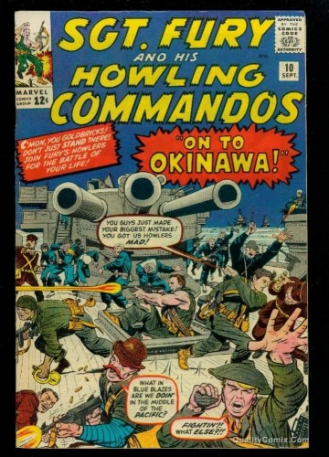 Sgt. Fury and His Howling Commandos #10 VF- 7.5