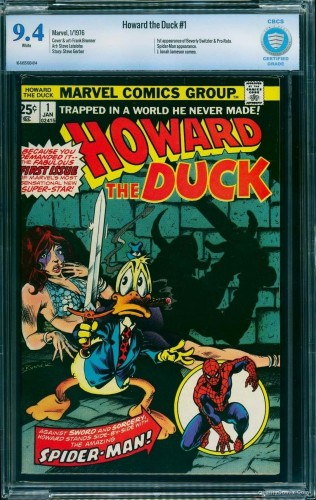 Howard the Duck #1 CBCS NM 9.4 White