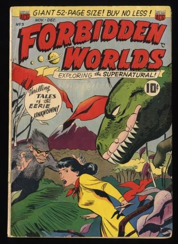 Forbidden Worlds #3 GD/VG 3.0