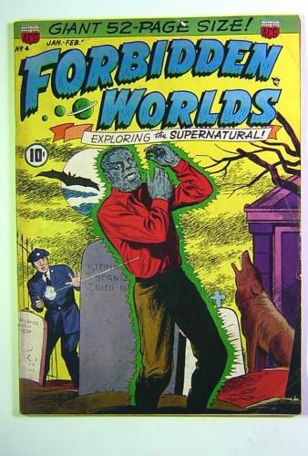 Forbidden Worlds #4 GD/VG 3.0