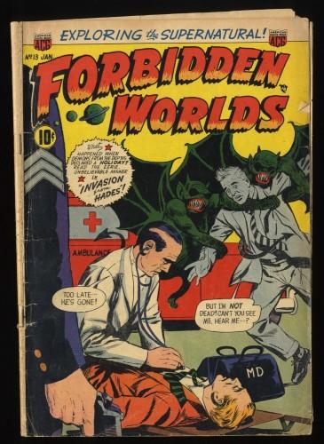 Forbidden Worlds #13 GD 2.0