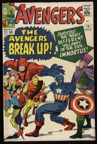 Avengers #10 VG+ 4.5