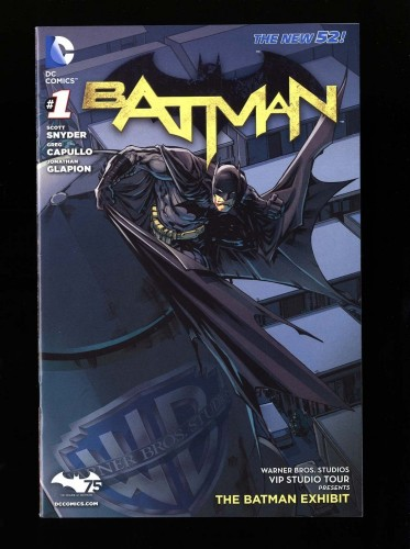 Batman New 52 #1 VF+ 8.5 Warner Brothers VIP Studio Tour Exhibit