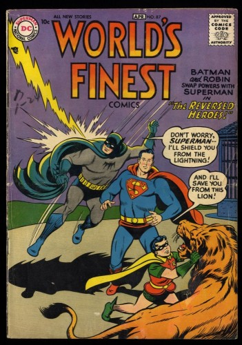 World's Finest Comics #87 VG 4.0 Superman Batman