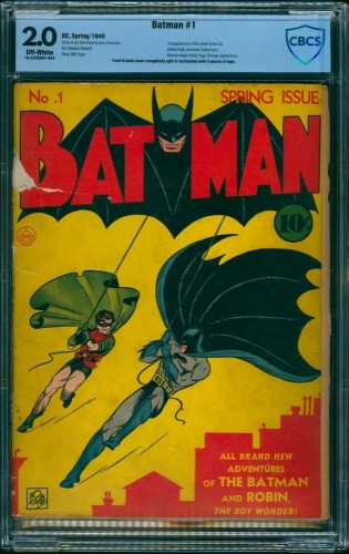 Batman #1 CBCS GD 2.0 Off White