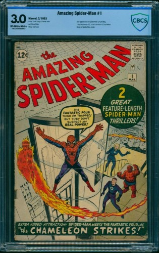 Amazing Spider-Man #1 CBCS GD/VG 3.0 Off White to White Marvel Comics Spiderman
