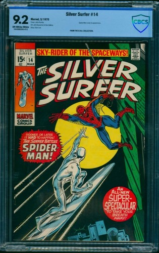 Silver Surfer #14 CBCS NM- 9.2 Off White to White