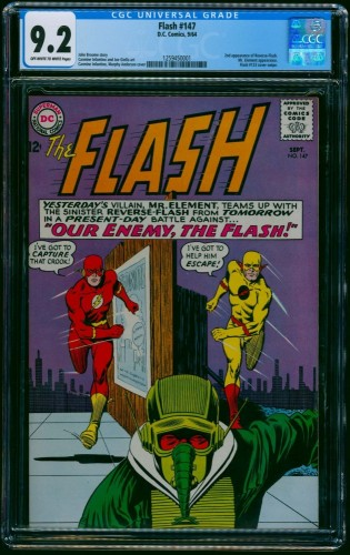 Flash #147 CGC NM- 9.2 Off White to White 2nd Reverse Flash! DC Comics