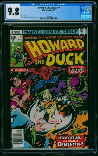 Howard the Duck #10 CGC NM/M 9.8 White Pages