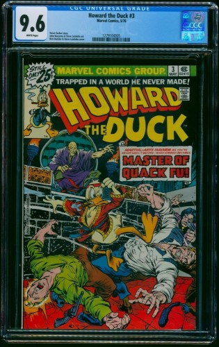Howard the Duck #3 CGC NM+ 9.6 White Pages