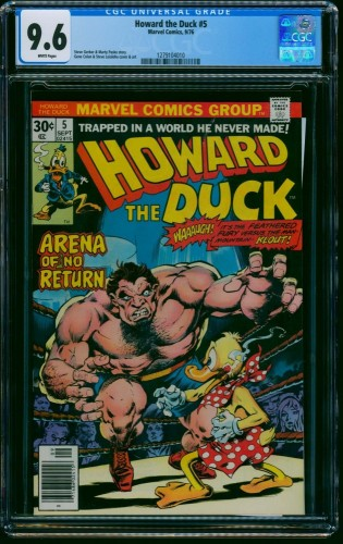 Howard the Duck #5 CGC NM+ 9.6 White Pages