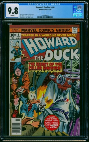 Howard the Duck #6 CGC NM/M 9.8 White Pages