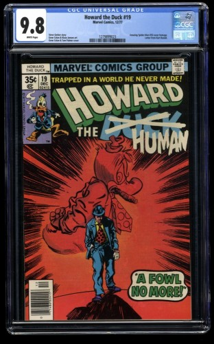 Howard the Duck #19 CGC NM/M 9.8 White Pages Spider-Man #50 Cover Swipe