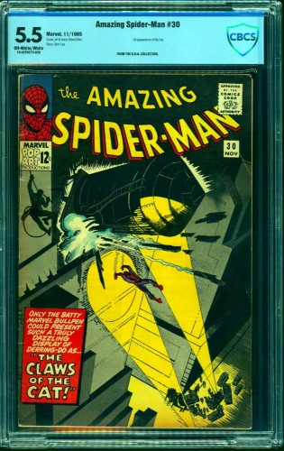 Amazing Spider-Man #30 CBCS FN- 5.5 Off White to White Marvel Comics Spiderman