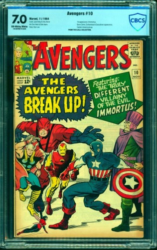 Avengers #10 CBCS FN/VF 7.0 Off White to White