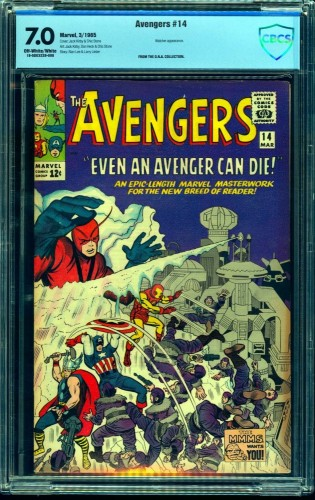 Avengers #14 CBCS FN/VF 7.0 Off White to White