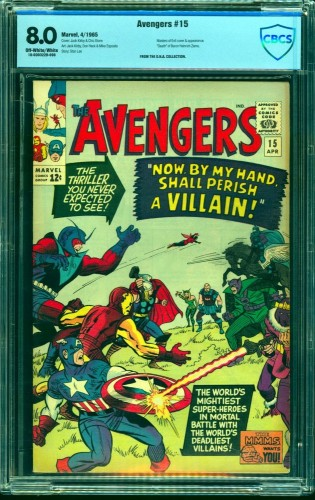 Avengers #15 CBCS VF 8.0 Off White to White Marvel Comics Thor Captain America