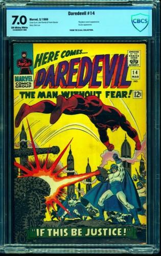 Daredevil #14 CBCS FN/VF 7.0 Off White to White Marvel Comics