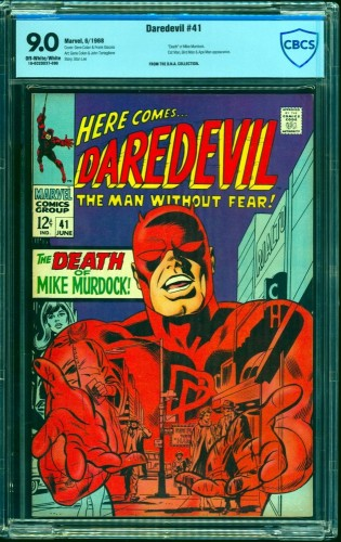 Daredevil #41 CBCS VF/NM 9.0 Off White to White Marvel Comics