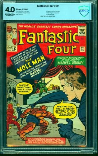 Fantastic Four #22 CBCS VG 4.0 Off White to White Marvel Comics
