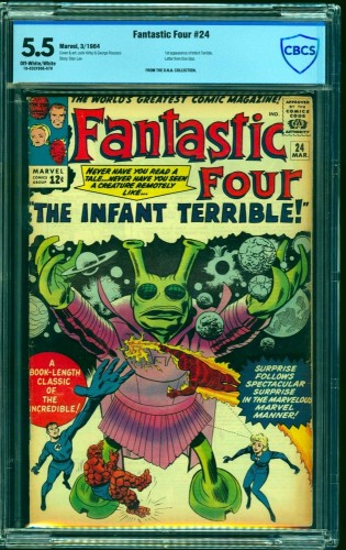 Fantastic Four #24 CBCS FN- 5.5 Off White to White Marvel Comics