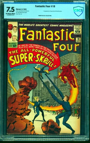 Fantastic Four #18 CBCS VF- 7.5 Off White to White Marvel Comics
