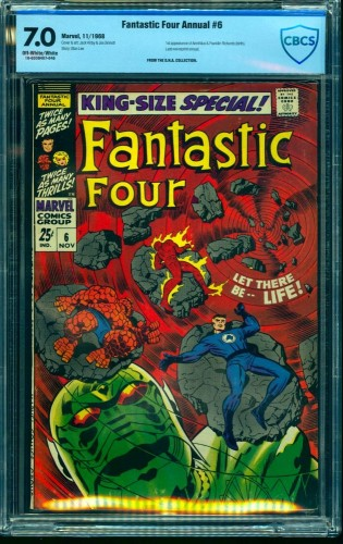 Fantastic Four Annual #6 CBCS FN/VF 7.0 Off White to White