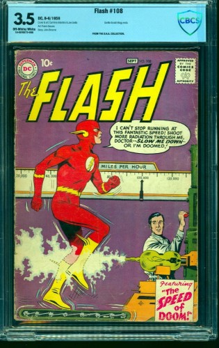 Flash #108 CBCS VG- 3.5 Off White to White DC Comics