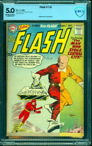 Flash #116 CBCS VG/FN 5.0 Off White to White DC Comics