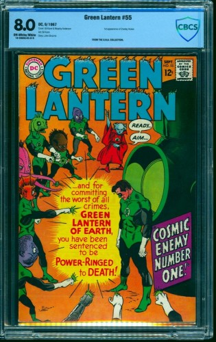Green Lantern #55 CBCS VF 8.0 Off White to White DC Comics