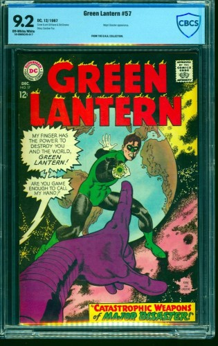 Green Lantern #57 CBCS NM- 9.2 Off White to White DC Comics