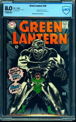 Green Lantern #58 CBCS VF 8.0 Off White to White DC Comics