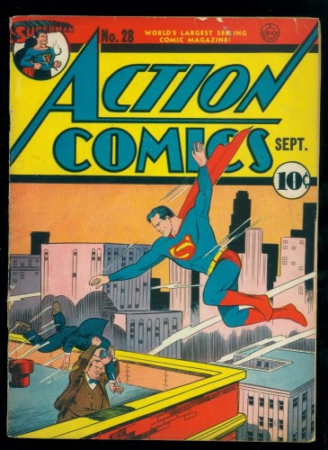Action Comics #28 GD/VG 3.0 DC Superman
