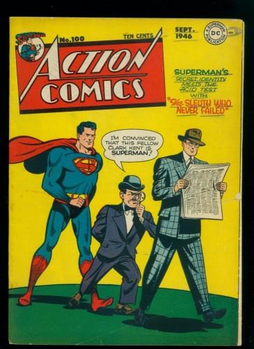 Cover Scan: Action Comics #100 VG 4.0 DC Superman