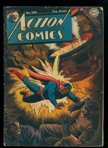 Cover Scan: Action Comics #108 VG- 3.5 DC Superman