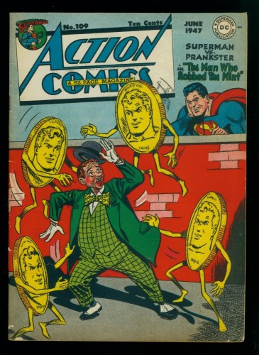 Cover Scan: Action Comics #109 FN+ 6.5 DC Superman