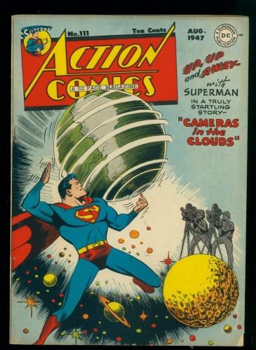 Cover Scan: Action Comics #111 VG+ 4.5 DC Superman
