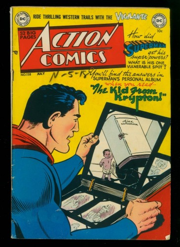 Cover Scan: Action Comics #158 VG/FN 5.0 DC Superman
