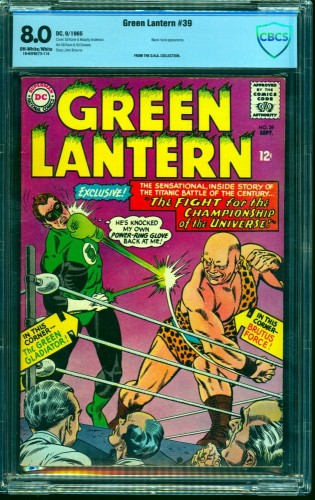 Green Lantern #39 CBCS VF 8.0 Off White to White DC Comics