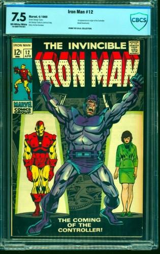Iron Man #12 CBCS VF- 7.5 Off White to White Marvel Comics