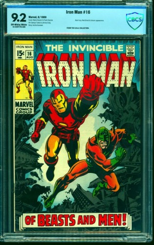 Iron Man #16 CBCS NM- 9.2 Off White to White Marvel Comics
