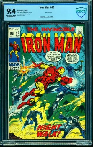 Iron Man #40 CBCS NM 9.4 Off White to White Marvel Comics