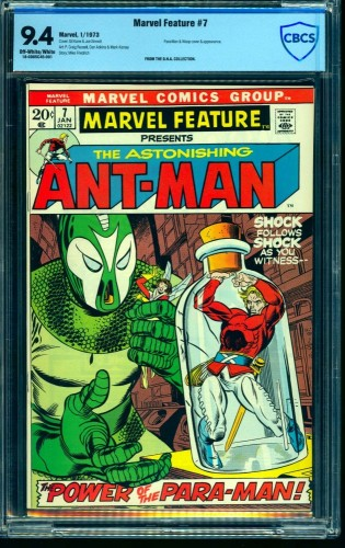 Marvel Feature #7 CBCS NM 9.4 Off White to White Ant-Man! Comics