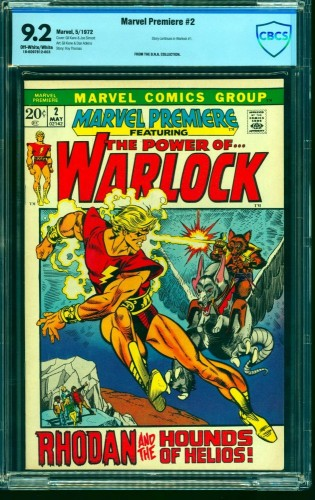 Marvel Premiere #2 CBCS NM- 9.2 Off White to White Warlock! Comics