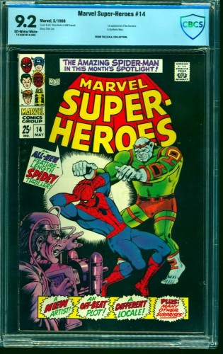 Marvel Super-heroes #14 CBCS NM- 9.2 Off White to White Comics