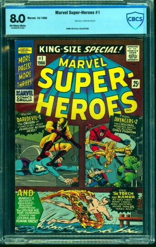 Marvel Super-heroes #1 CBCS VF 8.0 Off White to White Comics