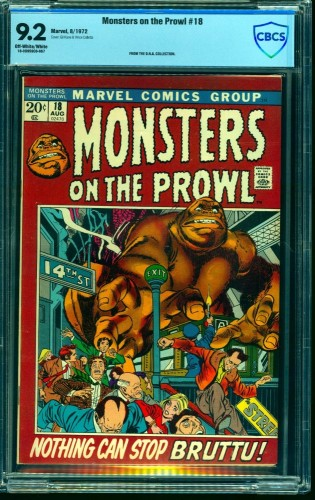 Monsters on the Prowl #18 CBCS NM- 9.2 Off White to White