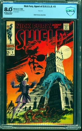 Nick Fury #3 CBCS VF 8.0 Off White to White Marvel Comics